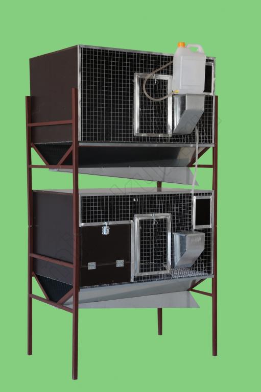 Клетка для кроликов два яруса малая ( с маточником,без маточника ) КР-3