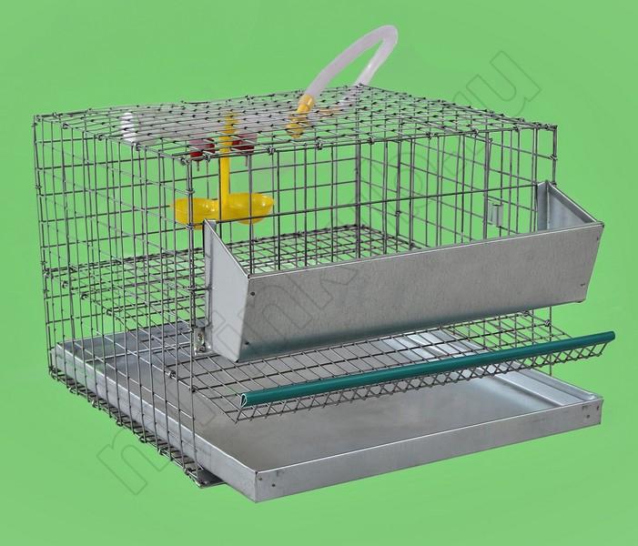 Клетка для перепелов 10 гол (1 ярус) КМП-10