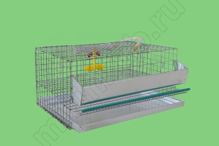 Клетка для перепелов 15 гол (1 ярус) КМП-15
