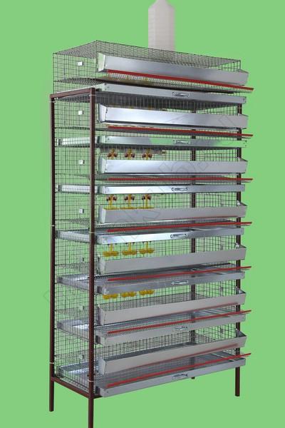 Клетка для перепелов 350 гол (7 ярусов) КМП-7-350