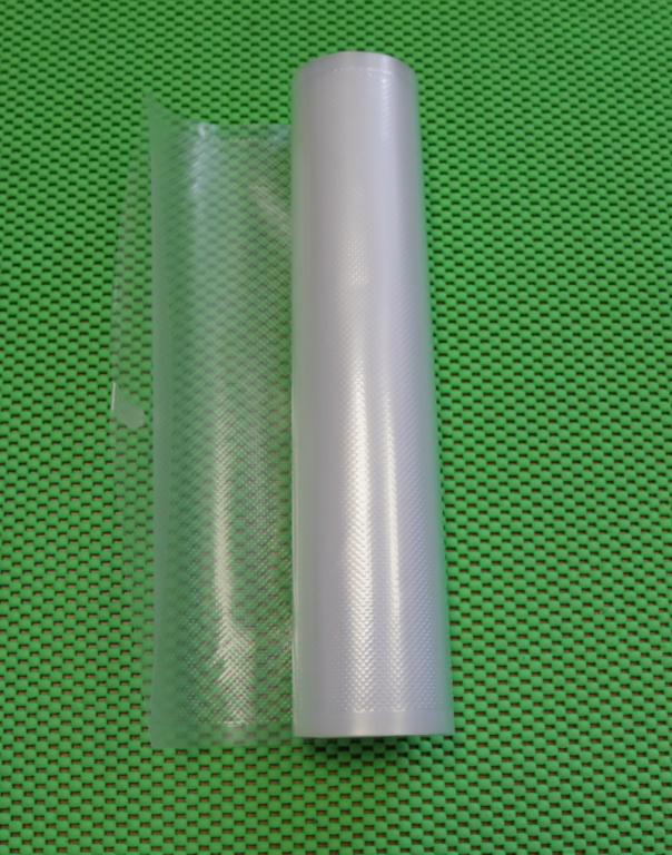 Упаковка для вакуумных машин. Рулон 28х500см. Пакет для вакуумной упаковки продуктов.