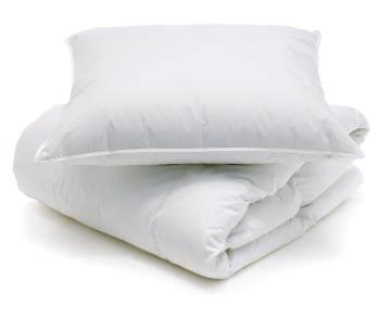 Пуховые подушка и одеяло своими руками